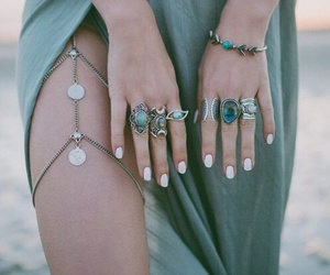 rings, style, and nails image