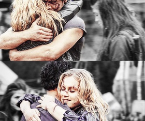 the 100, bellarke, and bellamy blake image