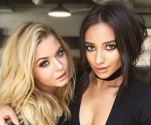shay mitchell, pretty little liars, and sasha pieterse image