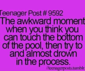 teenager post, funny, and pool image