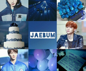 blue, moodboard, and got7 image