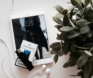 apple, headphones, and inspiration image