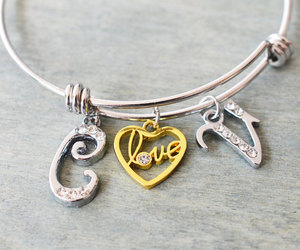 etsy, heart jewelry, and bridesmaid gift image