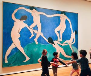 art, child, and painting image