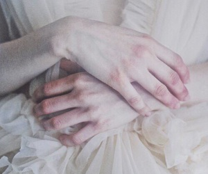 hands, style, and melancholy image