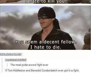 funny, benedict cumberbatch, and tom hiddleston image
