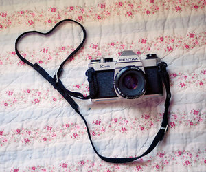 photography, camera, and heart image