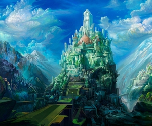 fantasy, castle, and city image