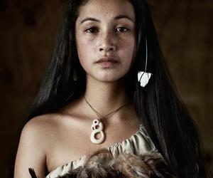 girl, Maori, and woman image