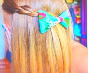 hair, bow, and tumblr image