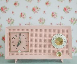 vintage, pink, and radio image