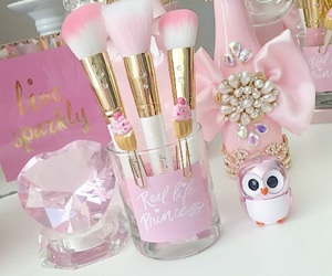 girly, jewels, and pink glam image