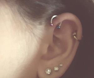 earpiercing and helixpiercing image