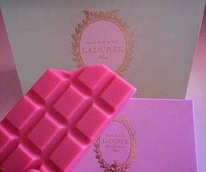 pink, chocolate, and food image