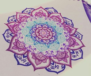 art, drawing, and mandala image