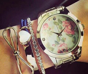 flowers, watch, and cudowny image