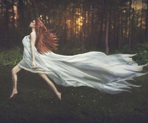 fantasy, forest, and red hair image
