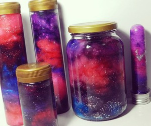 galaxy, diy, and glitter image