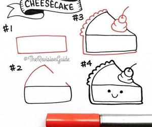 cheesecake, diy, and draw image