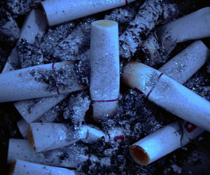 cigarette, grunge, and blue image
