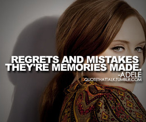 Adele, quote, and mistakes image