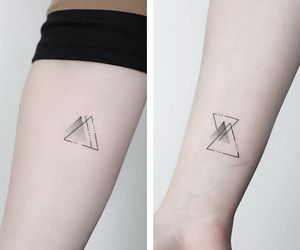tattoo, arm, and triangle image