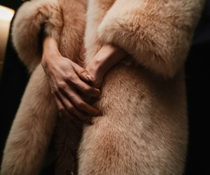 fur, coat, and woman image