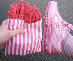 food, pink, and sneakers image