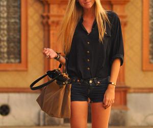 bag, fashion, and blonde image