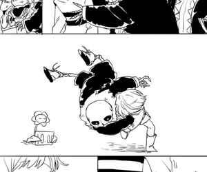 sans, frisk, and underfell image