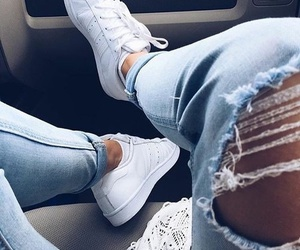 fashion, jeans, and adidas image