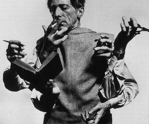 jean cocteau, black and white, and hands image