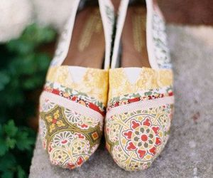 floral, loafers, and pattern image
