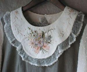 collar, dress, and kawaii image
