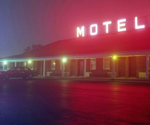 light, motel, and night image
