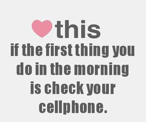 cellphone, heart, and morning image