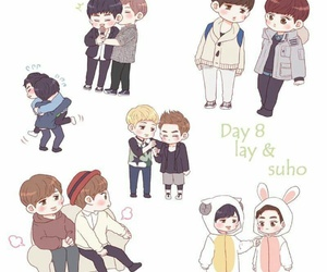 chibi, kpop boys, and exo otp image