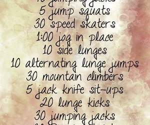 workout, cardio, and fit image