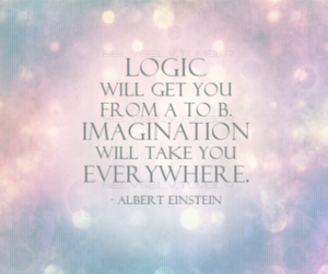 imagination, quote, and logic image
