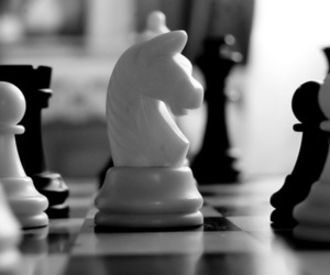b&w, black, and chess image