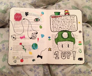 1Up, art, and book image