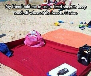 beach, funny, and summer image