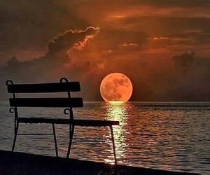 moon, nature, and sea image