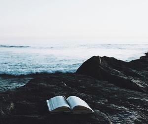 book, sea, and nature image