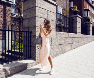 blogger, curly hair, and dress image