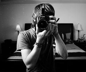 boy, photography, and black and white image
