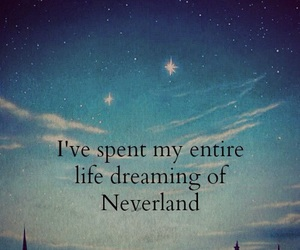 neverland, Dream, and peter pan image