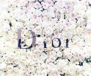 dior, flowers, and background image