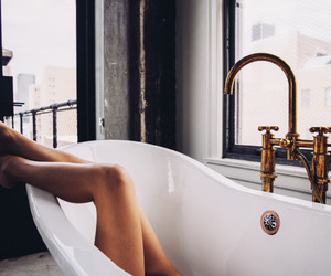 bath, legs, and luxury image