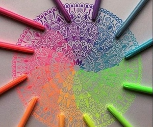 art, colors, and mandala image